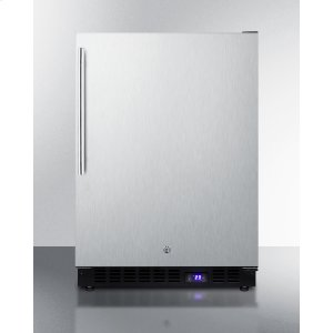 SummitFrost-free Outdoor All-freezer In Complete Stainless Steel, With Icemaker, Digital Thermostat, Thin Handle, and Lock; Built-in or Freestanding Use