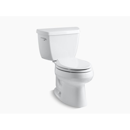 Biscuit Two-piece Elongated 1.28 Gpf Toilet With Class Five Flush Technology and Left-hand Trip Lever, Seat Not Included