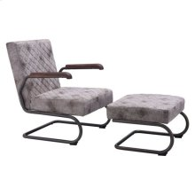 Father Lounge Chair Vintage White