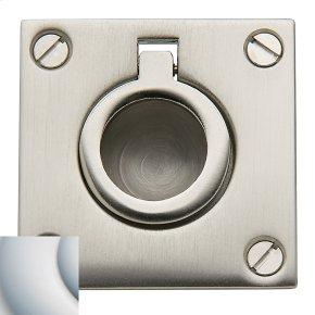 Satin Chrome Flush Ring Pull