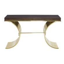 Jet Set Console Table in Caviar (356)