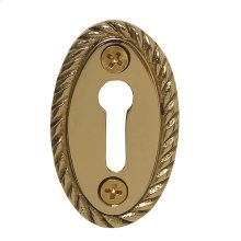 Nostalgic Warehouse - Rope Keyhole Cover in Polished Brass
