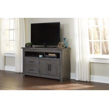 54 Inch Console - Distressed Dark Gray Finish