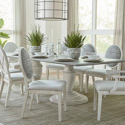 "Custom Dining 86"" Table w/Splayed Base"