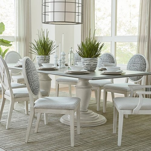 "Custom Dining 108"" Table w/Atlas Base"