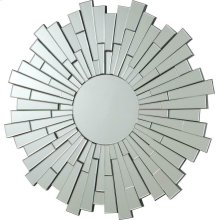 Transitional Sunburst Frameless Mirror