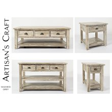 Artisan's Craft Cocktail Table - Washed Grey