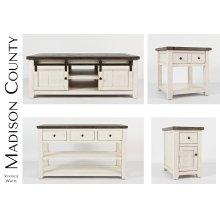 Madison County Sofa/media Table - Vintage White