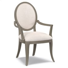 Living Room Darling Upholstered Oval Back Arm Chair