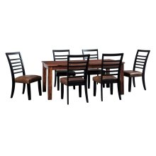 Manishore - Brown 5 Piece Dining Room Set