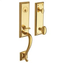 Non-Lacquered Brass Stonegate Handleset