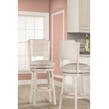 Clarion Swivel Counter Stool - Sea White
