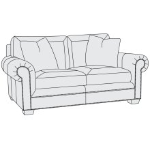 Grandview Loveseat in Mocha (751)