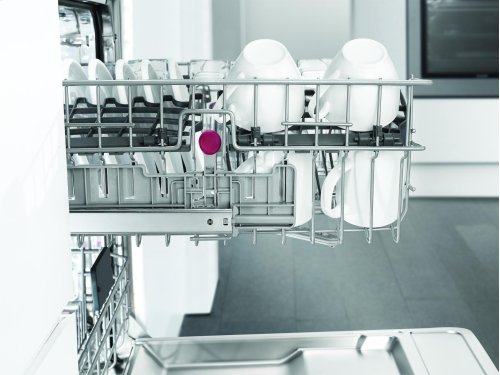 Tall Tub dishwasher 5 cycles top control full integrated panel overlay 49 dBA