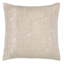French Herringbone Natural 2Pc Euro Sham Set