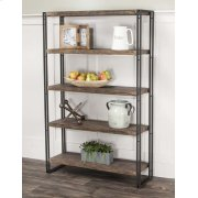 Dawn-reclaimd Oak/blk Bookcase Product Image