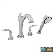 Patience Deck Mount Tub Filler with Hand Shower American Standard - Polished Chrome