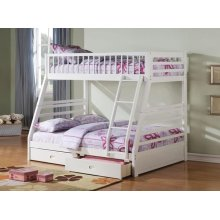 KIT- WHITE T/F BUNKBED W/2 DRW