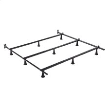 Prestige Premium Adjustable Bed Frame P56 with Push-Pin Size Adjustment and Oversized Recessed Glide Legs, Queen - King