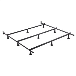 Leggett And PlattPrestige Premium Adjustable Bed Frame P56 with Push-Pin Size Adjustment and Oversized Recessed Glide Legs, Queen - King