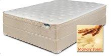 Chrome - Foam Encased Euro Pillow Top with Memory Foam - Queen