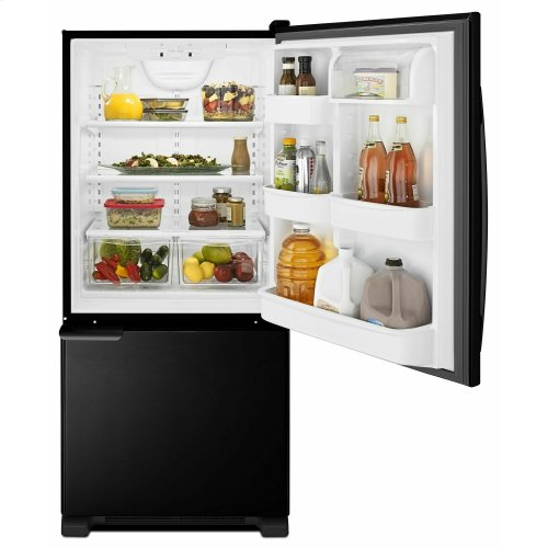 29-inch Wide Bottom-Freezer Refrigerator with Garden Fresh Crisper Bins -- 18 cu. ft. Capacity - Black