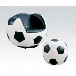 2pc Pk Soccer Chair & Ottoman