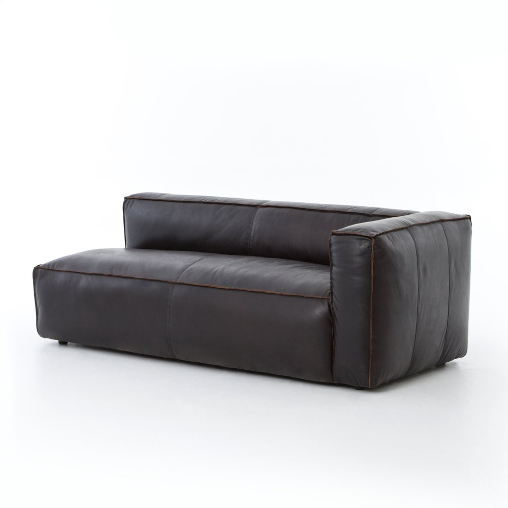 Single - Right Arm Facing Configuration Rider Black Cover Nolita Sectional