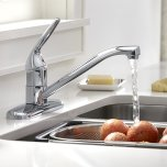 American StandardColony Choice 1-Handle Kitchen Faucet  American Standard - Polished Chrome