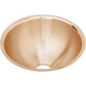 "Elkay CuVerro Antimicrobial Copper 11-3/8"" x 11-3/8"" x 4-3/4"", Single Bowl Undermount Bathroom Sink"