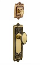 Nostalgic - Handleset Interior Half - Egg and Dart Plate with Homestead Knob in Antique Brass Product Image