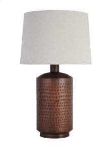 Metal Table Lamp (1/CN) Table Lamp - Antique Copper Finish Collection Ashley at Aztec Distribution Center Houston Texas