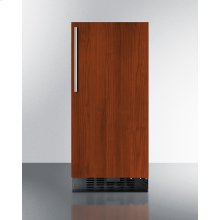 """15"""" Wide ADA Compliant All-refrigerator for Built-in or Freestanding Use, With Digital Controls, LED Light, Lock, Panel-ready Door, and Black Cabinet"""