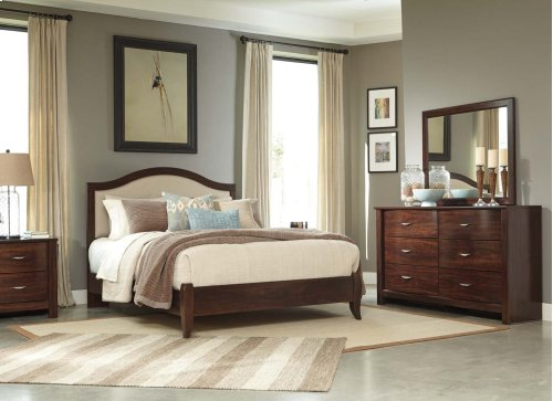 Queen Upholstered Panel Bed
