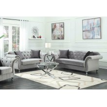 Frostine Grey Two-piece Living Room Set