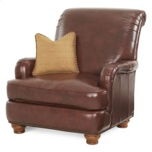 Leather/fabric Club Chair - Opt3