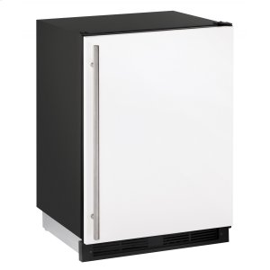 """U-Line1000 Series 24"""" Refrigerator/freezer With White Solid Finish and Field Reversible Door Swing (115 Volts / 60 Hz)"""