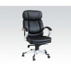 Black Pu Office Chair Product Image