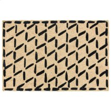 Doormat Brushstroke Diamonds Black 24x36