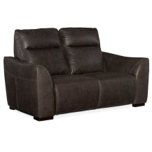 Living Room Athena Power Leather Motion Loveseat