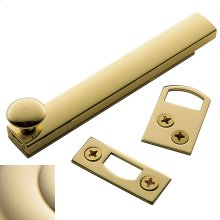 Lifetime Polished Brass General Purpose Surface Bolt