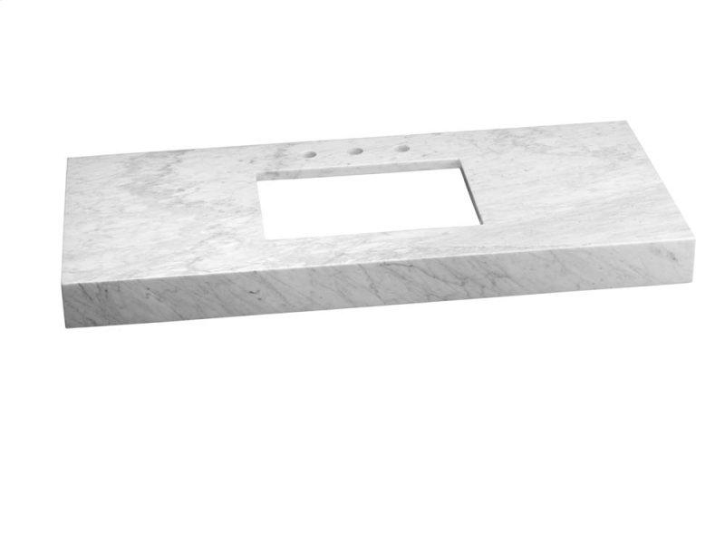 Wideeal 48 X 22 Marble Vanity Top In Carrara White 4