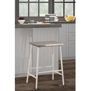Hillsdale FurnitureKennon Non Swivel Stool - Silver/white