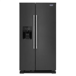 Maytag36-Inch Wide Side-by-Side Refrigerator with Exterior Ice and Water Dispenser - 25 Cu. Ft.