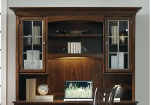 Home Office Latitude Computer Credenza/Desk Hutch