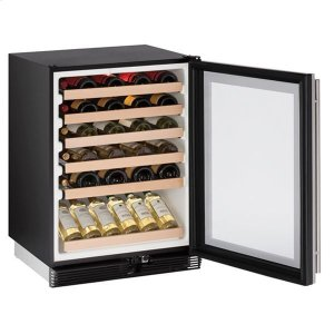 "U-Line1024wc 24"" Wine Refrigerator With Stainless Frame Finish (115 V/60 Hz Volts /60 Hz Hz)"