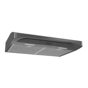 BroanBroan® Elite 30-Inch Convertible Under-Cabinet Range Hood, Black Stainless Steel