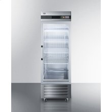 23 CU.FT. Commercial Reach-in Refrigerator In Complete Stainless Steel With Glass Door