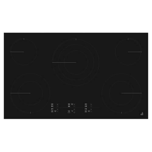 "Oblivian Glass 36"" Electric Cooktop with Glass-Touch Electronic Controls Black"