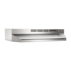 "Broan36"" Ductless Under-Cabinet Range Hood with Light in Stainless Steel"